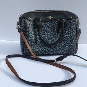 COACH floral mini satchel